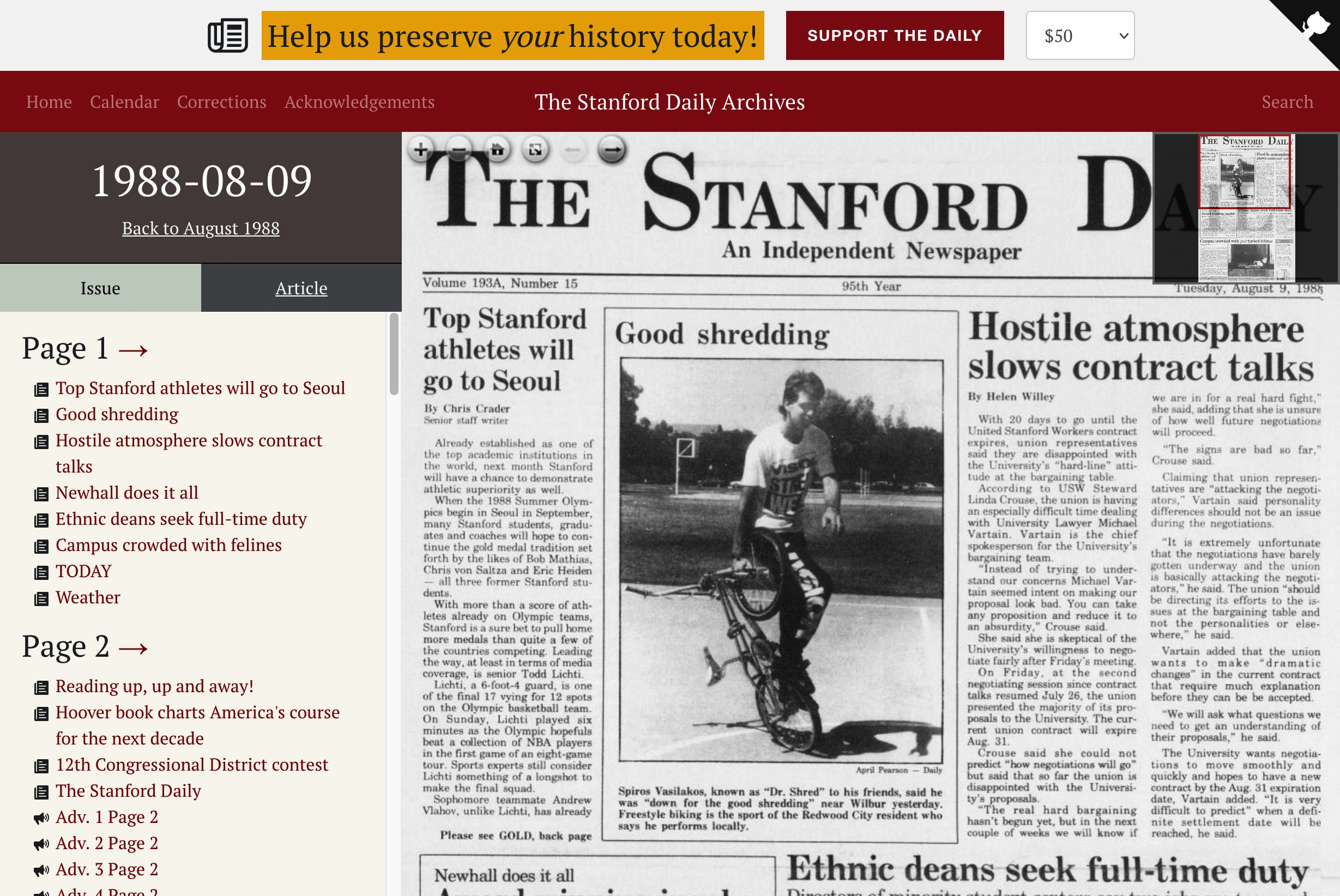 The Stanford Daily Archives
